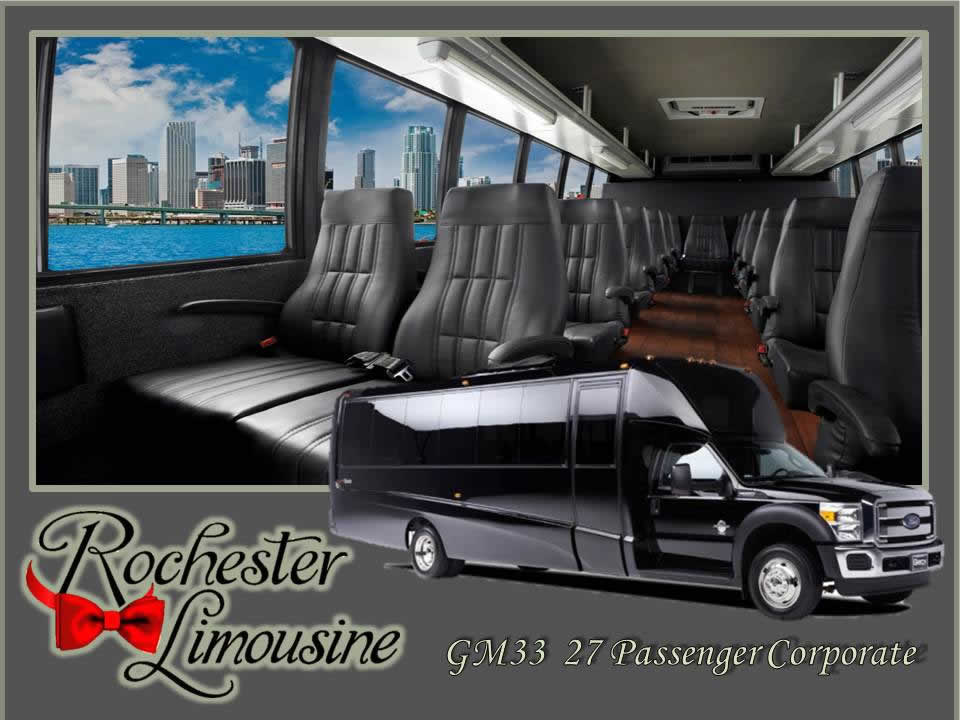 Rochester Limos 27 Passenger Corporate Bus