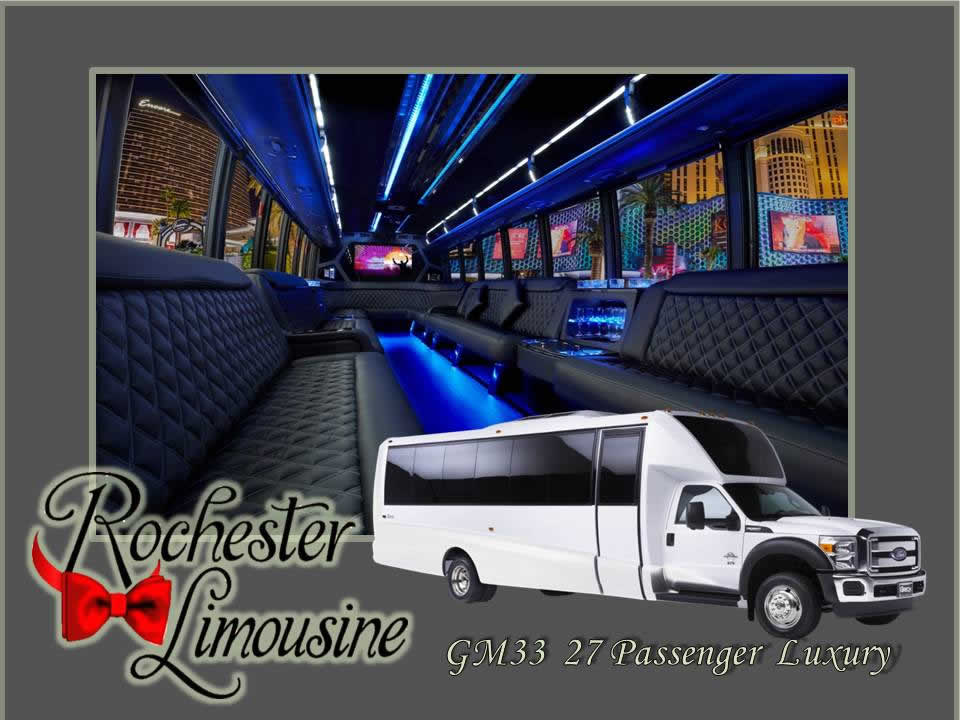 Rochester Limos 27 Passenger Luxury Bus